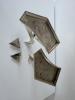 Salvadore Dali, a set CHROMIUM PLATED METAL PRICKET CANDLESTICKS: L'IMMORTALITI DE CASTOR ET POLLUX - Salvador Dalí
