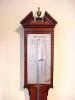 A mahogany French stick barometer, by Mossy, circa 1790.