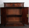 A French late Empire mahogany wall cupboard with marble top, circa 1840