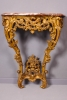 A French Transition giltwood console table with marble top, circa 1765