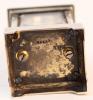 Een miniatuur Zwitsers zilveren doorzichtig emaille reisklokje, circa 1900