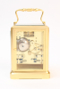 A French brass one-piece Jules escapement carriage clock, circa 1840