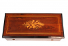 A Swiss rosewood six air cylinder music box by Bremond, circa 1870.