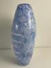 Richard Price, grote vaas met applique van witte bloemen. - Richard Price