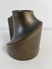 Jan van der Vaart, bronze glazed stoneware mutiple candle holder - Jan van der Vaart