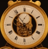 S09 Multidial skelettonized Table clock ca. 1800, signed Verneuil a Paris
