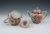 A pair of Chinese porcelain  Imari teapots