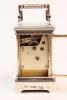 A Swiss sterling silver guilloche enamel miniature clock, circa 1900
