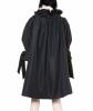 Takada Black Taffeta Ottoman Overcoat - Kenzo Takada