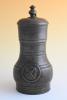 A pewter guild jug