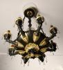 A bronze Empire style chandelier