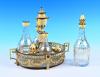 An 18th century Dutch oil and vinegar set