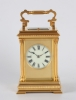 A fine French gilt brass Anglaise case repeating carriage clock by Henri Jacot, circa 1880.