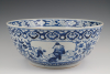 A large Chinese porcelain bowl