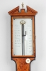 Een Engelse satijnhouten stickbarometer, James Long Royal Exchange, circa 1780