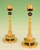 A pair of Russian Empire candlesticks
