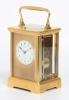 A French carriage clock with rare striking, retailer Grottendieck Brussel, circa 1880