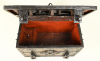 An iron strongbox.