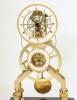 A French Directoire gilt brass and black marble skeleton clock, circa 1795