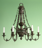 A rare pewter chandelier