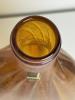 A.D. Copier, Leerdam Unica, amber flat-bottle shape, glass vase, with tin craquele decoration - Andries Dirk (A.D.) Copier
