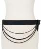 Fall - Winter 2002 Chanel Runway Multi-Strand Black Wool Bow Belt - Chanel