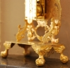 m118 Louis XV mantel clock, fire-gilt, signed by Henri Rossius A Liege.