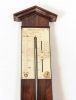 A French rosewood stick barometer, by Adams, circa 1830