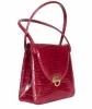 Vintage Handbag in Red Croco - Designer Unknown