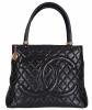 Chanel Handtas in Zwart Gematelasseerd Leder - Chanel