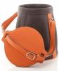 Hermès Schoudertas in Oranje/Bruin Courchevel Leer