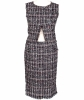Chanel Red Black White Tweed Skirt Suit - Chanel