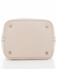 Hermès 'Picotin Lock MM Bag' in  Off White Clemence Leather - Hermès