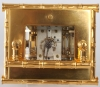 A French gilt brass Bamboo case carriage clock, L.F. circa 1890