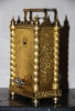 C20 Gilt bronze Pendule D'Officier with quarter repetition and alarm