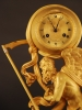 M69 Gilt bronze and marble 'Father Time' clock