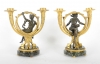 A pair of French ormolu and patinated bronze candlesticks, after Alfons Giroux, circa 1880