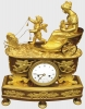 Chariot clock of the alliance between Psyché and Cupid (soul and love)/ butterfly chariot, by Arnoux à Paris, ca. 1810.