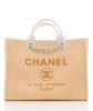 Chanel 'Deauville' Tote Bag in Sandcolor Jacquard - Chanel