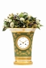 A lovely French Empire porcelain urn mantel clock, circa 1800