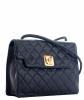Chanel Vintage Blue Quilted Leather Shoulder Bag - Chanel