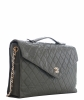Chanel Vintage Green Quilted Leather Briefcase Shoulder Bag - Chanel
