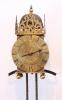 A rare early French brass lantern alarm timepiece,Rousseau A Lyon, circa 1665