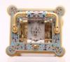 A lovely French gilt brass cloisonné enamel carriage clock, circa 1870