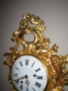 W22 Transitional Louis Quinze/Seize Cartel clock, in superb original condition and perfect gilding