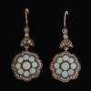 Diamond and opal earrings