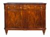 A Dutch transition mahogany sideboard 'klapbuffet'