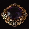59 ct. amethyst brooch