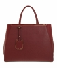 Fendi Red Leather '2Jours' Tote Bag