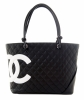 Chanel Black Leather Ligne Cambon Tote Bag - Chanel